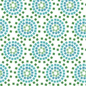 mozaicflowerBLUE