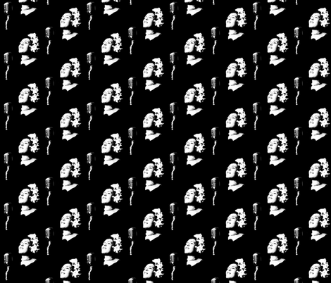 Lady Day fabric by hollywood_royalty on Spoonflower - custom fabric