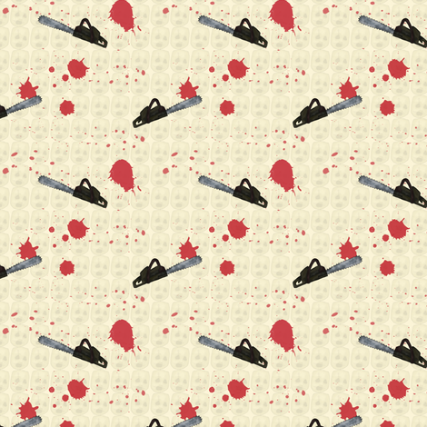 A Bloody Massacre (smaller) fabric by seesawboomerang on Spoonflower - custom fabric