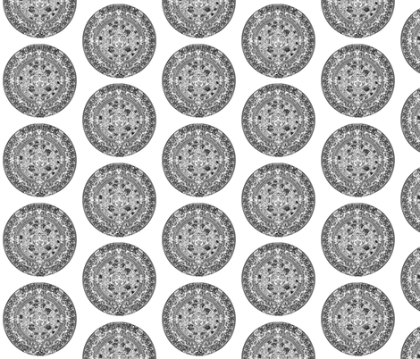 """Aztec Calendar - Large (4"""") fabric by thinlinetextiles on Spoonflower - custom fabric"""
