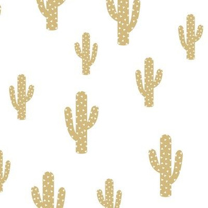 Cactus Gold - White background