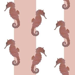 Seahorses on Blush