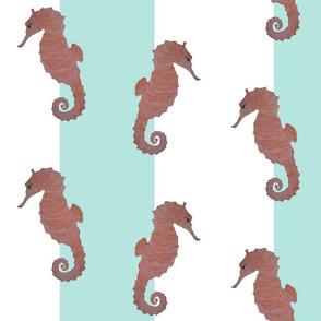 Seahorses on Mint