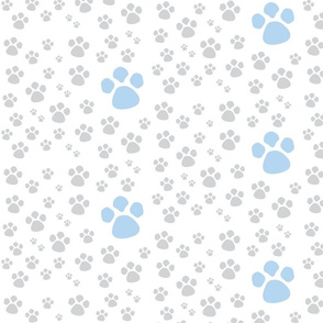 Paw Prints  SMALL - blue gray