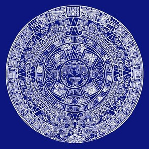 Aztec Calendar Swatch - Dark Blue