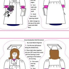 Anna Graduation Doll Cut and Sew Ornament