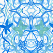 Blue_Abstract_Flowers_Scan_8x11