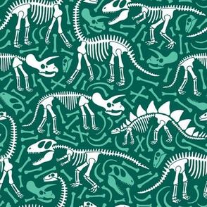 Dinosaurs and bones (green)