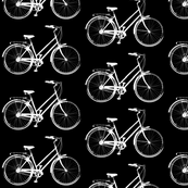 Bicycle on Black