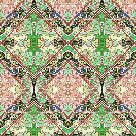 Enter the Palace fabric by edsel2084 on Spoonflower - custom fabric