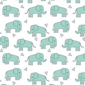 elephant // mint kids nursery baby small baby nursery kids coordinate