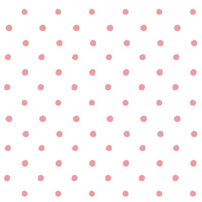 Salmon polka dots