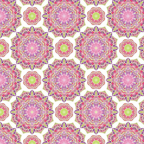 Colourful ornament with mandalas.