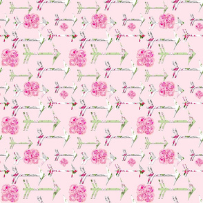 Shabby Chic Roses Arrows bright