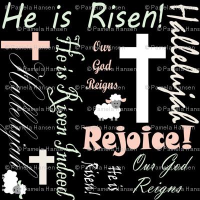 He is risen chalkboard background