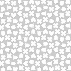 scattered confetti : silver