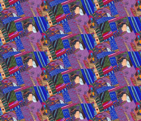 geisha_collage fabric by exb on Spoonflower - custom fabric