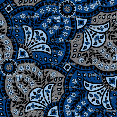 paisley hourglass blue/grey-ch