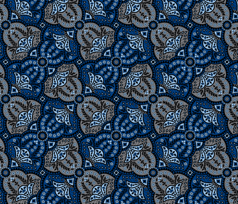 paisley hourglass blue/grey-ch fabric by craftyscientists on Spoonflower - custom fabric