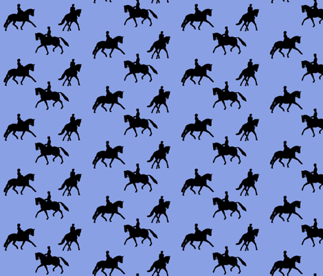 Dressage Silhouette in Periwinkle fabric by cadence&co on Spoonflower - custom fabric