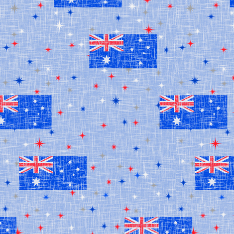 Patriotic Aussie fabric by inscribed_here on Spoonflower - custom fabric