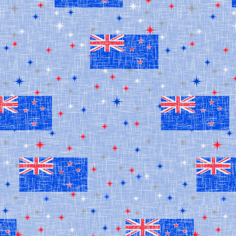 Patriotic Kiwi fabric by inscribed_here on Spoonflower - custom fabric