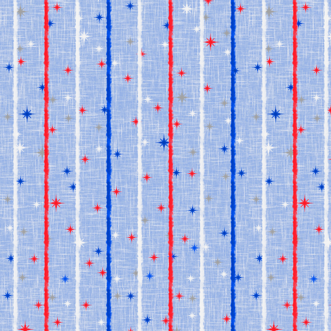 Patriotic Stripe fabric by inscribed_here on Spoonflower - custom fabric