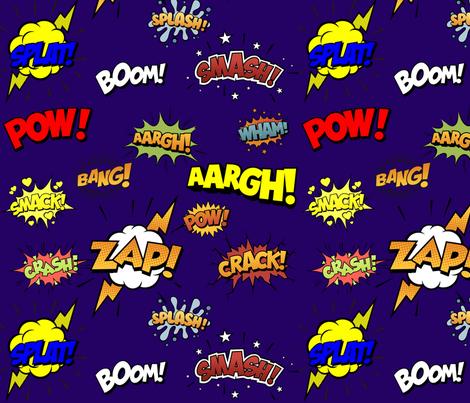 amazing_superhero_spoonflower fabric by trixiepop on Spoonflower - custom fabric
