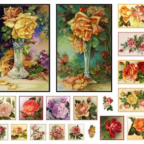 Victorian Rose Panel