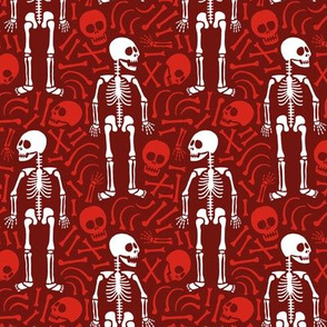 Skeletons and bones (red)