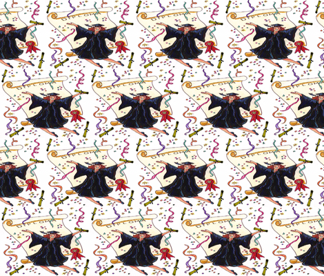 GRADUATION DAY fabric by bluevelvet on Spoonflower - custom fabric
