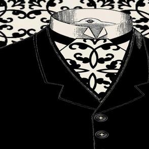 BLACK SUIT PILLOW/TOTE