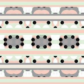 Many Hearts Decorative Stripes