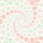 swirling confetti polkadots