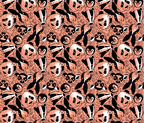 alice brown pattern fabric by monmerle on Spoonflower - custom fabric