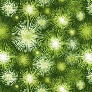 Atomic flowers - Green