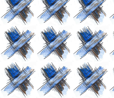 Blue Cross  fabric by caroline_bosker on Spoonflower - custom fabric