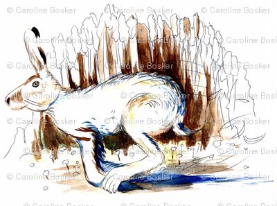 Blue Running Hare
