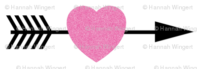 Pink Glitter Shooting Hearts