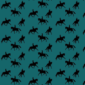 Dressage Silhouette in Teal