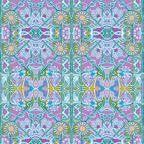 Pastel Posy Parade fabric by edsel2084 on Spoonflower - custom fabric