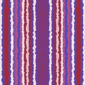 Jagged Berry Stripe