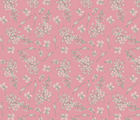 ipernity_springcolors_pink fabric by pamelachi on Spoonflower - custom fabric
