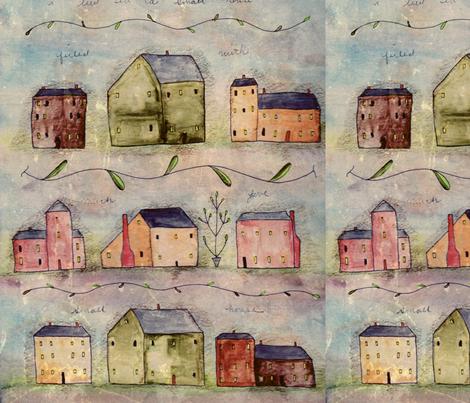 Small House fabric by notforgottenfarm on Spoonflower - custom fabric