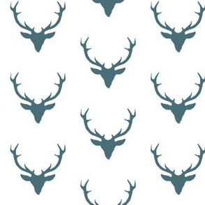 Teal Deer on White