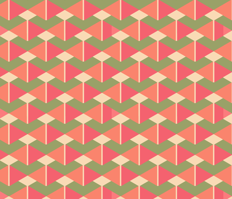 DoubleTrianglesCoral fabric by designsld on Spoonflower - custom fabric