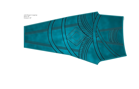 JadeDragoonLeggingLeft fabric by littlelionworkshop on Spoonflower - custom fabric