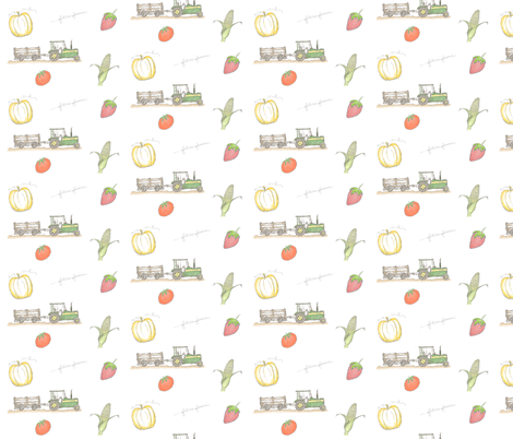 OnTheFarm fabric by stickelberry on Spoonflower - custom fabric