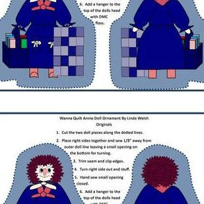 Wanna Quilt Annie Cut and Sew Doll Ornament