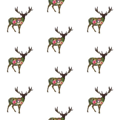 Rfloral_deer_standing_shabby_chic_rustic_fabric_shop_preview